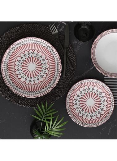 Güral Porselen Desenli Yemek Takımı Seti 24 Prç.6 Kişilik 5512 Renkli